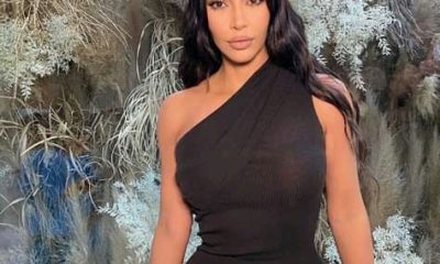 Kim Kardashian spotted wearing the tiniest leather crop top