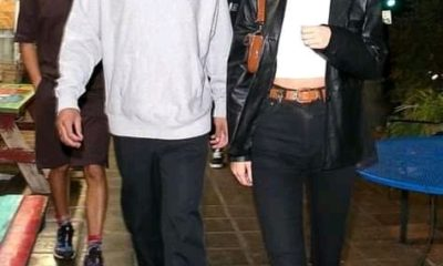 Kendall Jenner drops jaws in crop top and lime green skirt as she enjoys romantic date