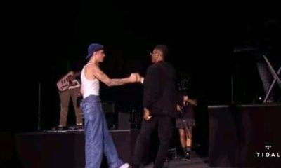 WATCH: Wizkid, Justin Bieber perform 'Essence' on stage at Jay-Z's concert